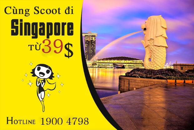 Scoot khuyến mãi đến Singapore giá cực rẻ từ 880,000 VNĐ
