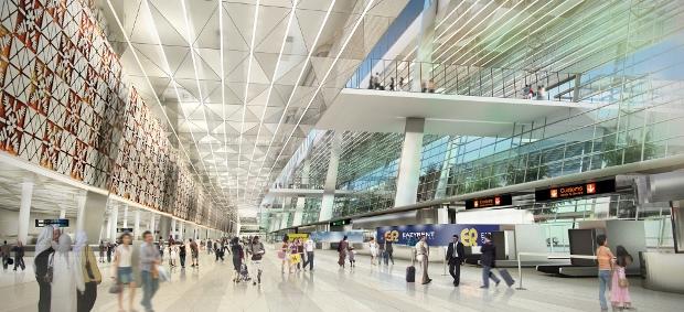 Bên trong sân bay quốc tế ở Jakarta