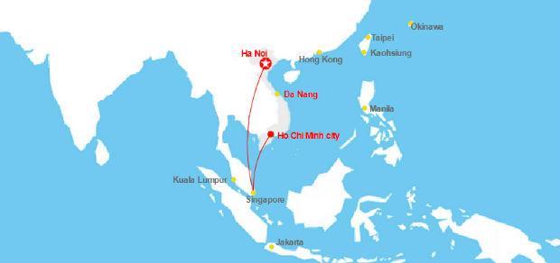 Đi máy bay Singapore mất mấy tiếng từ Việt Nam?