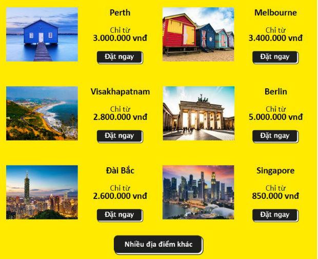 Scoot khuyến mãi cuối năm đến 20 thành phố từ 850,000 VNĐ