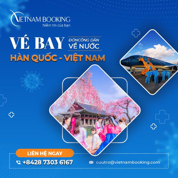 huyến bay từ Hàn Quốc về Việt Nam